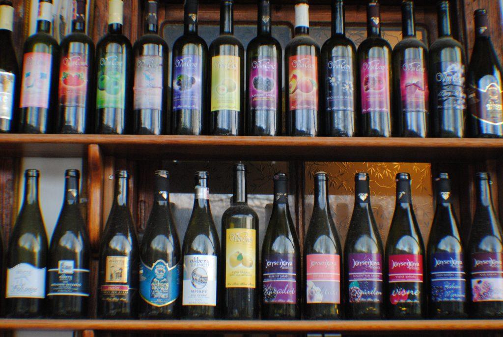 Şirince köyünde üretilen şaraplar