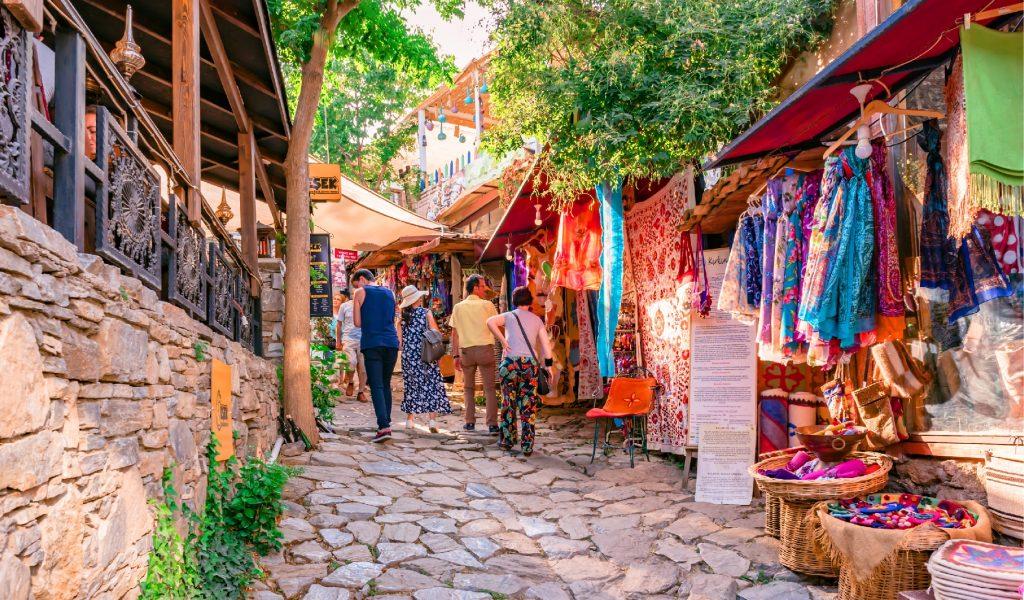 Şirince köyü turistik alışveriş