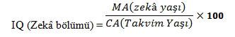 Zeka formülü