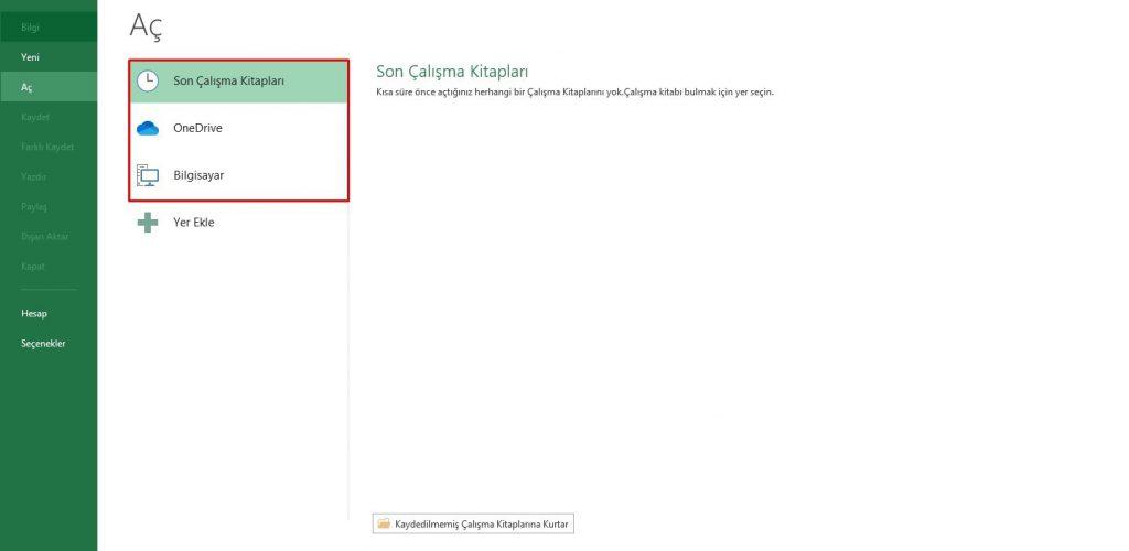 Temel Excel Bilgileri, Excel Menüleri, Excel Arayüzü ve Açıklamaları