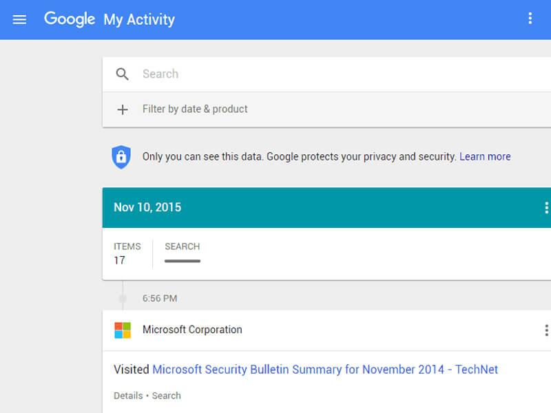 Google Etkinliklerini Kontrol Edin