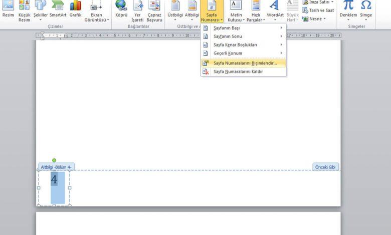Word Sayfa Numarası Ekleme İşlemi Nasıl Yapılır