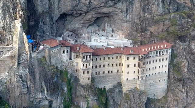 sümela manastırı eski fotoğrafı