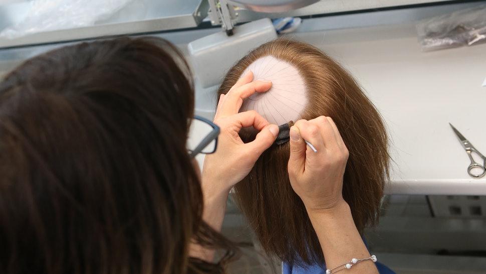 evde protez saç yapımı