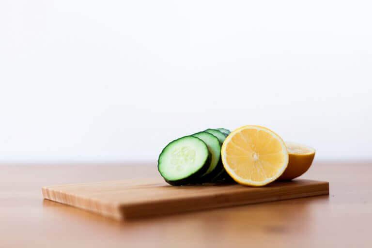yeşil çay ve limon maskesi