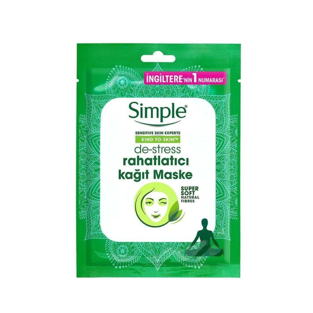 Simple De-Stress Rahatlatıcı Kağıt Maske
