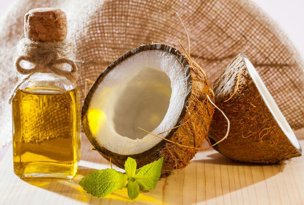 Kakaobutter und Kokosölmischung