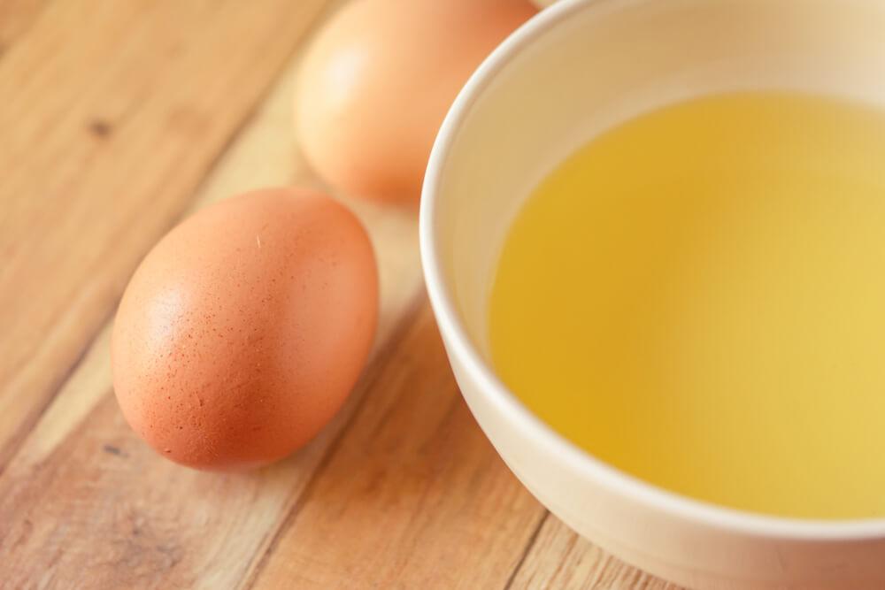yumurta beyazı maskesi