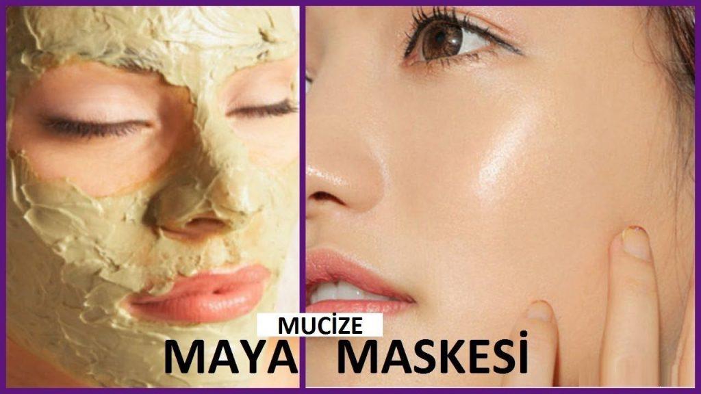 yaş maya maskesi