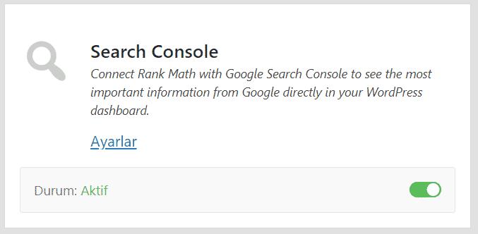 Rank Math SEO - Google Search Console